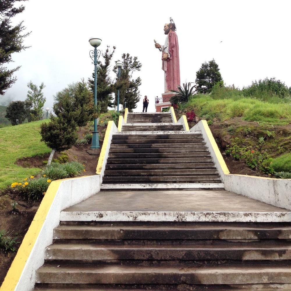 Monumento a San Pedro, the patron saint of the town