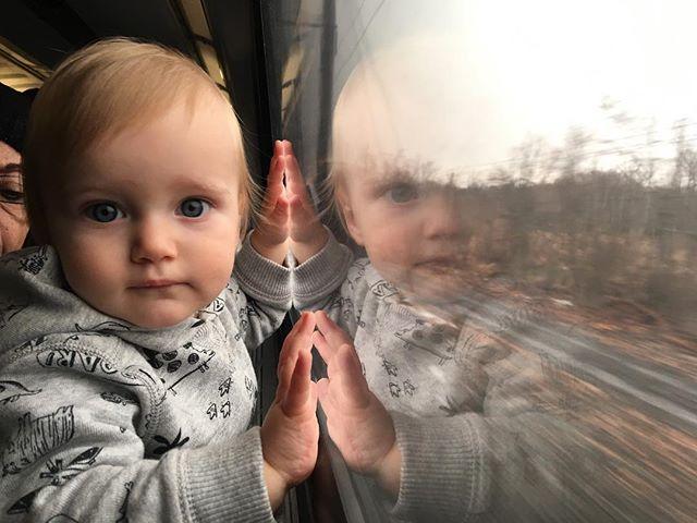 Fritz's first Amtrak trip! Philadelphia to NYC.