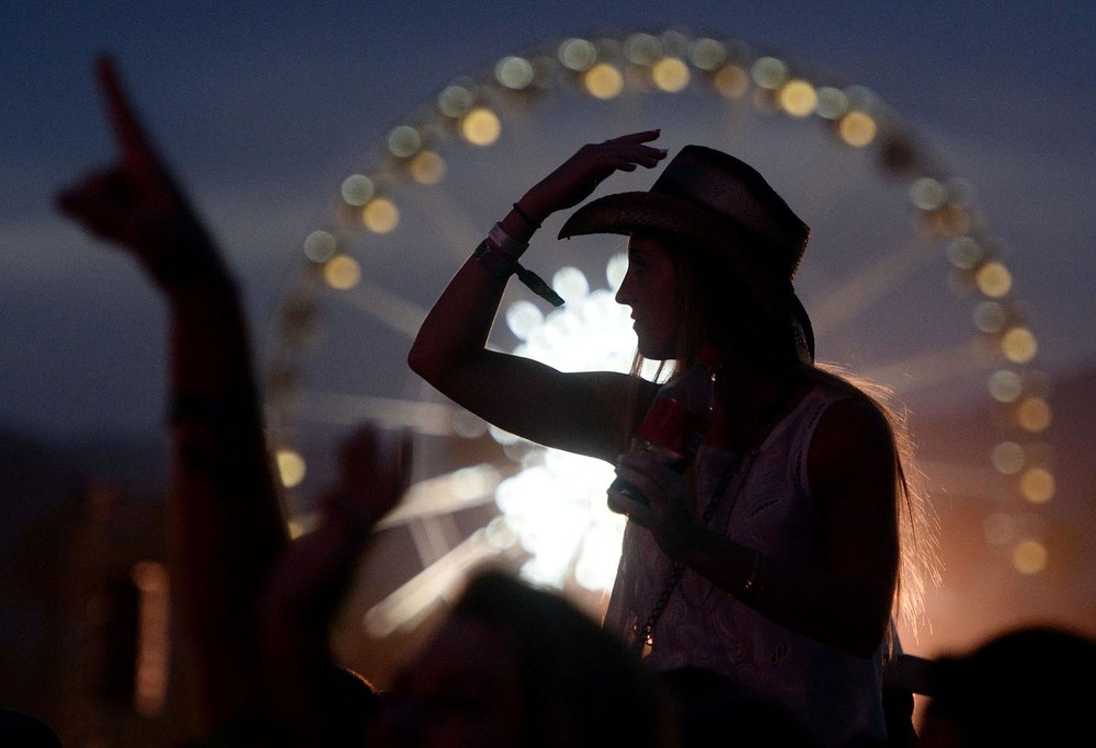 Fans enjoy Easton Corbin on the Mane Stage Friday April 25, 2014 at Stagecoach 2014 at the Empire Polo Club in Indio.