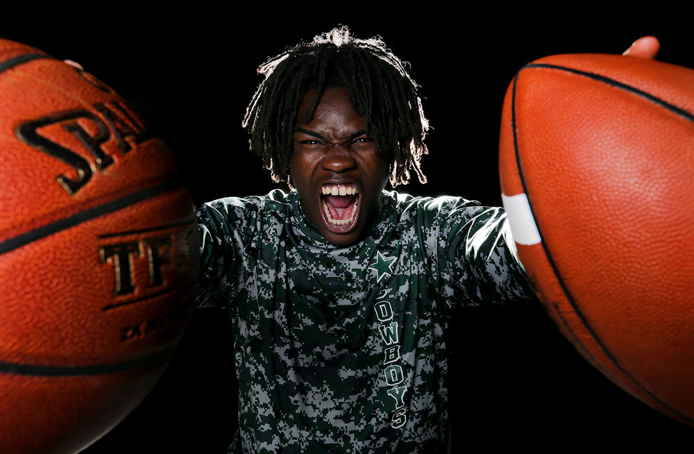 Cajon football and basketball star Jeremiah Martin has been chosen the HSGameTime large schools boys athlete of the yea Monday in San Bernardino, Calif. May 21, 2018.