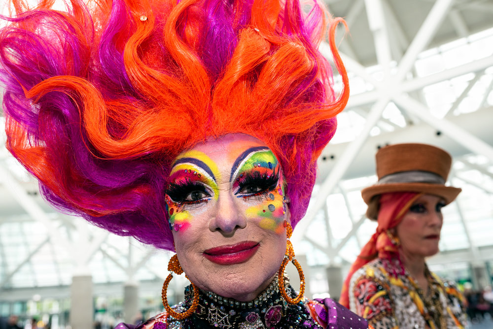 Attendees arrive at RuPaul's DragCon in Los Angeles California o