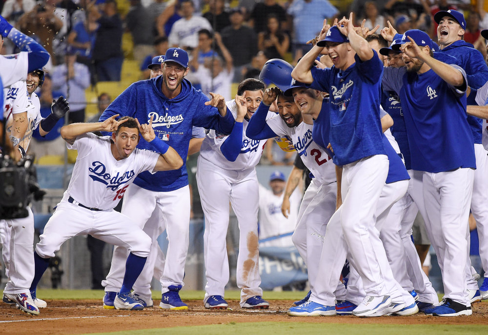 APTOPIX Brewers Dodgers Baseball
