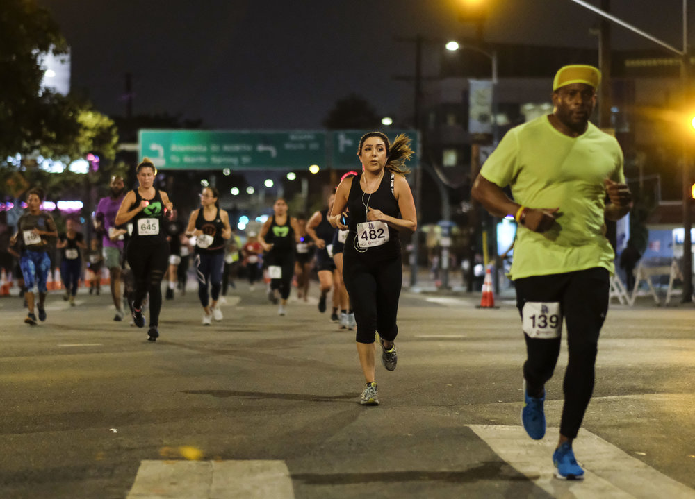 Participants run during the ``Happy Birthday L.A. 5K 2018'' to commemorate the Los Angeles City's 237th birthday, on Sept. 2, 2018.