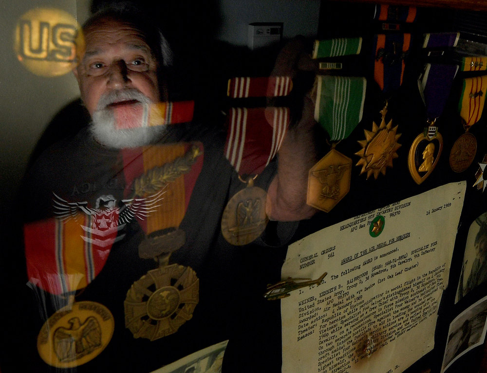Ken Weiner, 57 of Murrieta, left Lakewood High during his senior year in 1967 to join the Army and fight in Vietnam. Now, 50 years later, he's trying to get his high school diploma, but so far, the Long Beach Unified School District is fighting him. Weiner spoke of his struggles at his Murrieta home on Wednesday, October 31, 2018.