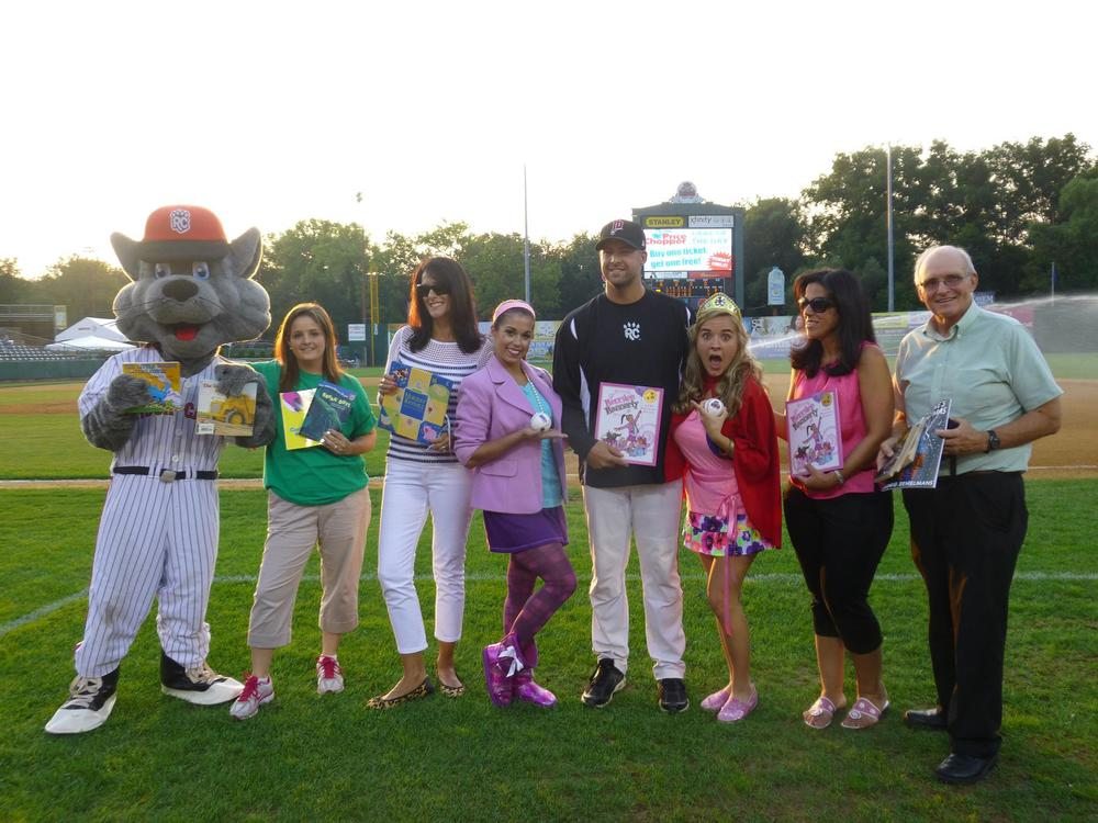 Merrilee Mannerly and Posy Perform the National Anthem at the New Britain Rock Cats Game