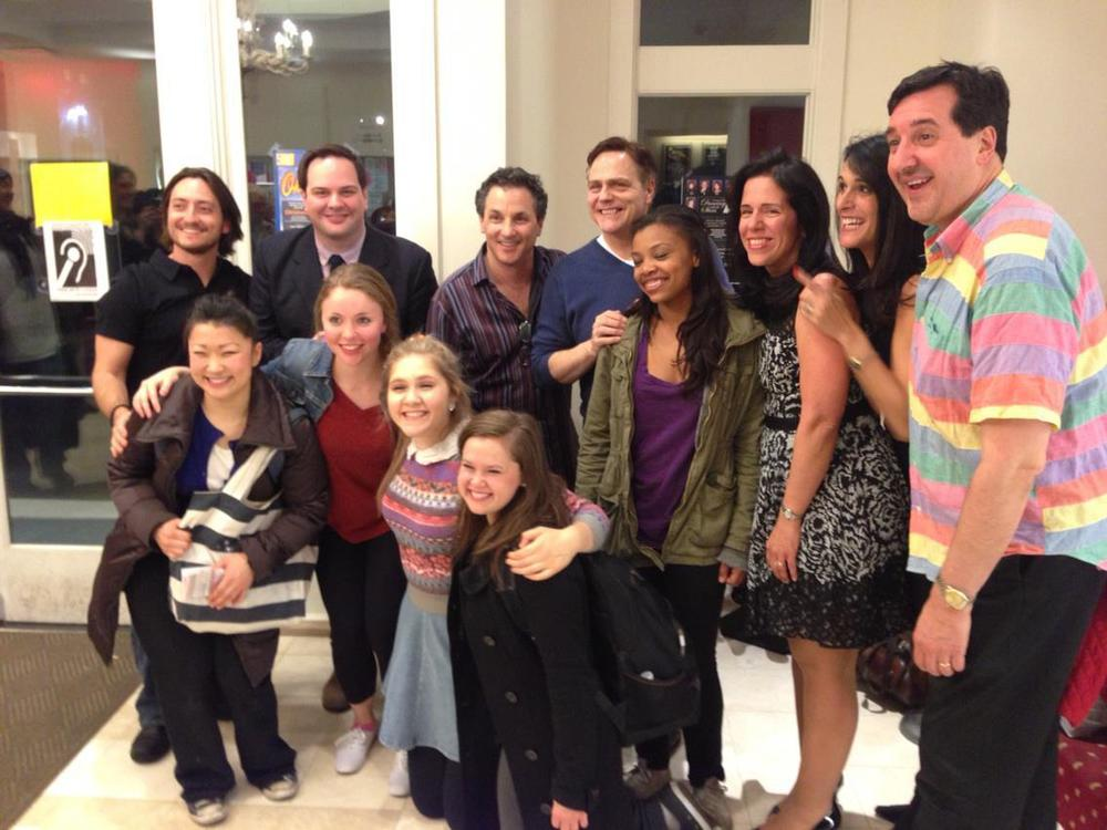 The cast and creative team after the first reading of the musical in Stanford, CT