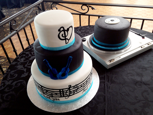 Music Wedding Cake Rainy Cakes