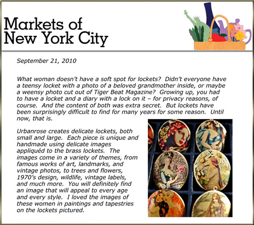 Featured in Karen Sieger's 'Markets of New York'