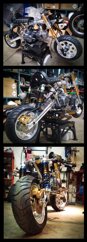 Gasoline Custom 125cc Mini Cafe Racer Gasoline Motor Co