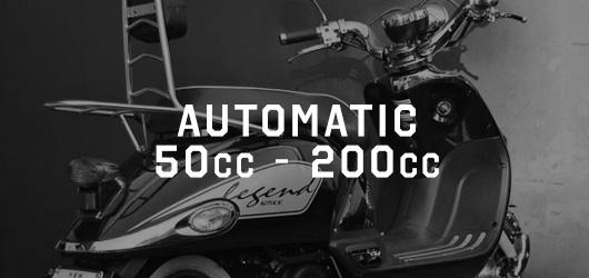 Automatic 50cc - 200cc