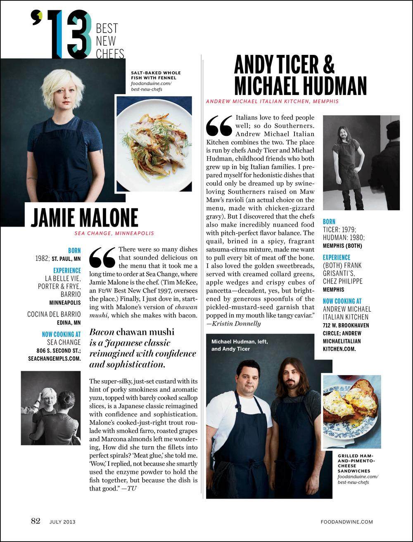 Best New Chefs — James T. Maikowski