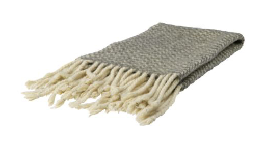 soft, fringed   throw   found via   design sponge