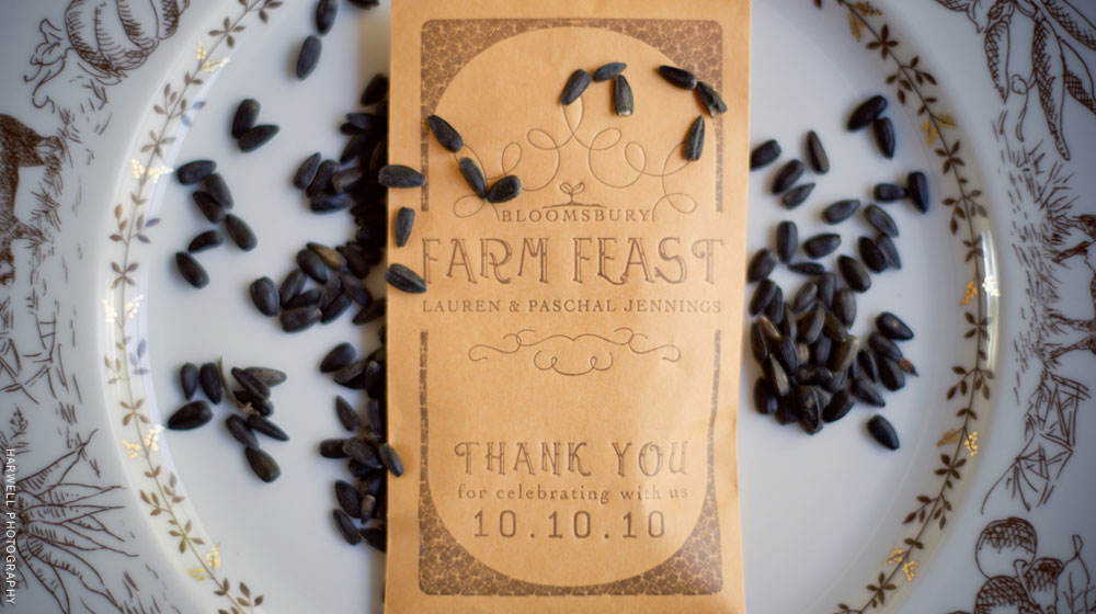 letterpress wedding favor