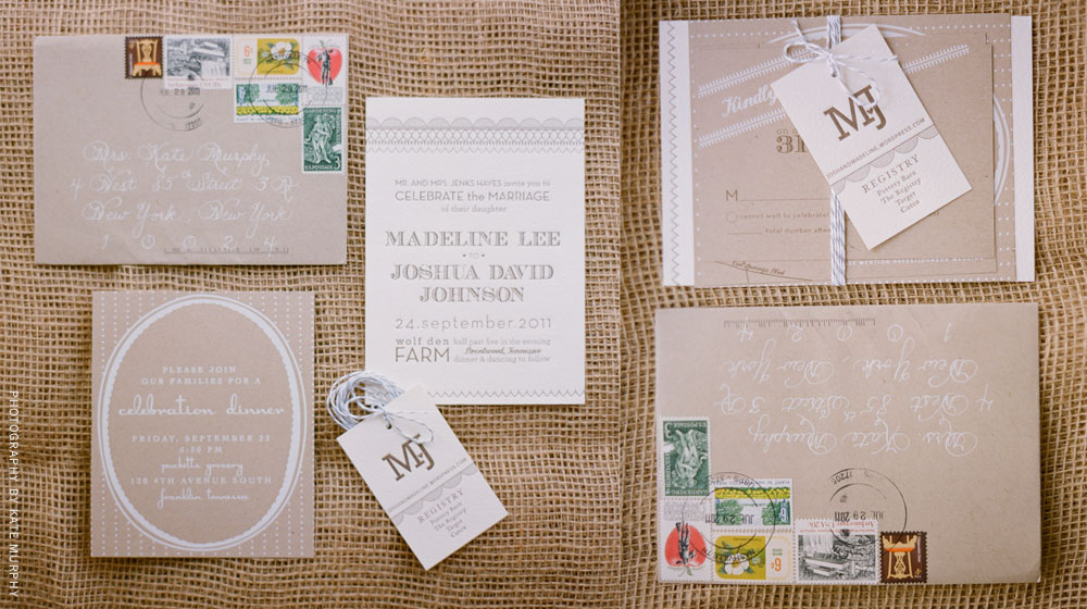 letterpress wedding suite
