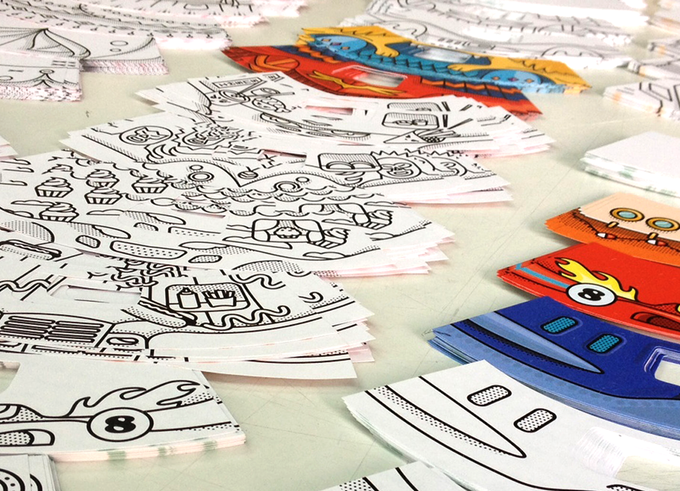 Printing the coloring play book pages
