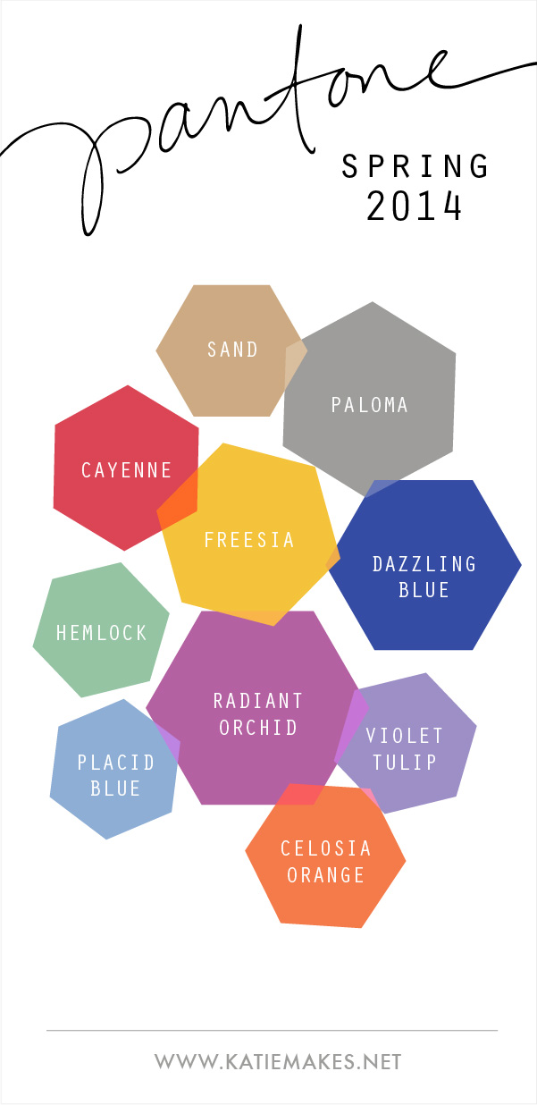 Pantone Spring Color Palette 2014