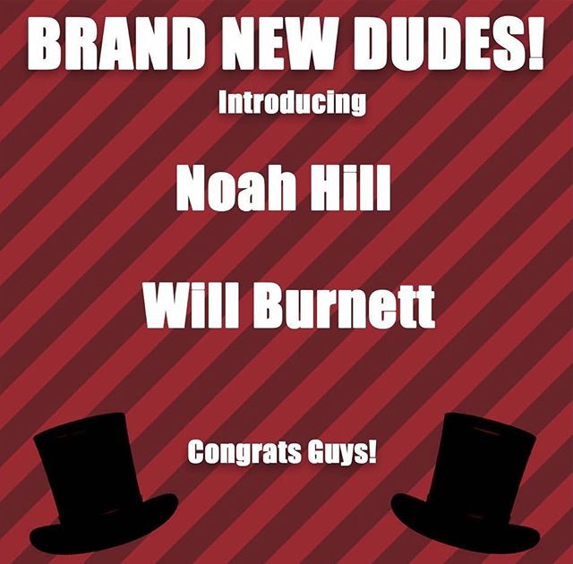 Congrats to our brand new guys! Can't wait to have you kill it on stage with us 🎩🎩