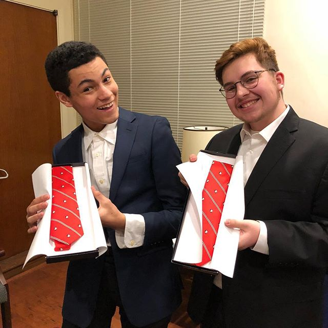 Men Being Manly was a blast and we were so excited to finally give Noah and Will their very own Abbey ties! Looking good guys 🎩🎩