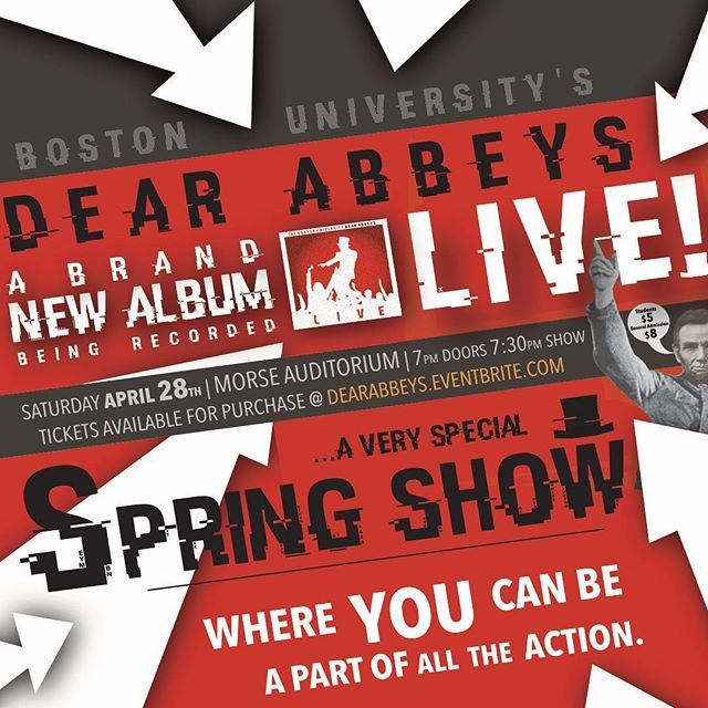 Don't forget, The Dear Abbeys Live this Saturday 7:30pm at Morse. Can't wait to see you guys there!