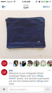 GAP messages participants in its first Instagram Direct promotion. The brand was the first to announce use of the feature in brand outreaching.
