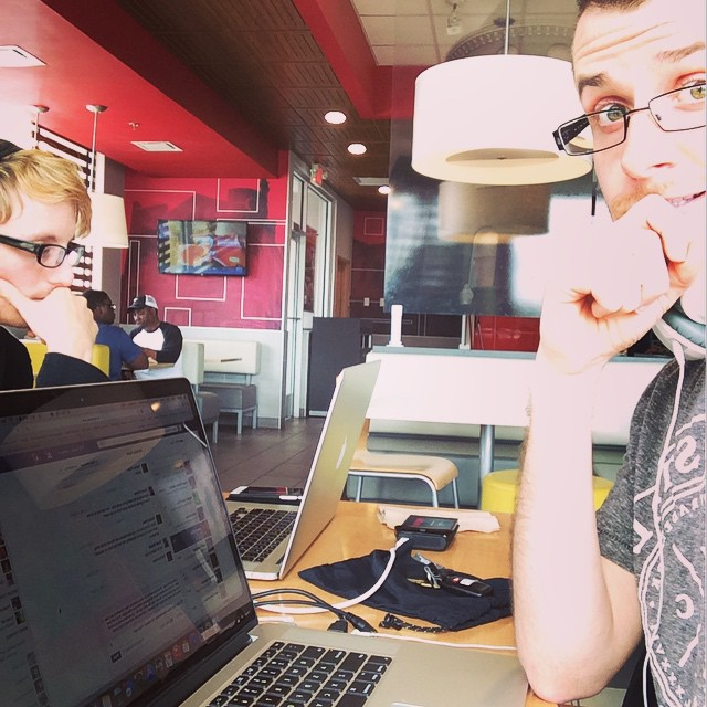 We opened a label office in Americus, GA today! 😂 #mobileoffice #mcdonalds #verbrecords