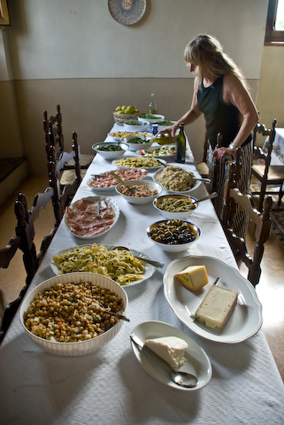 Preparing for Lunch at the Villa.jpg