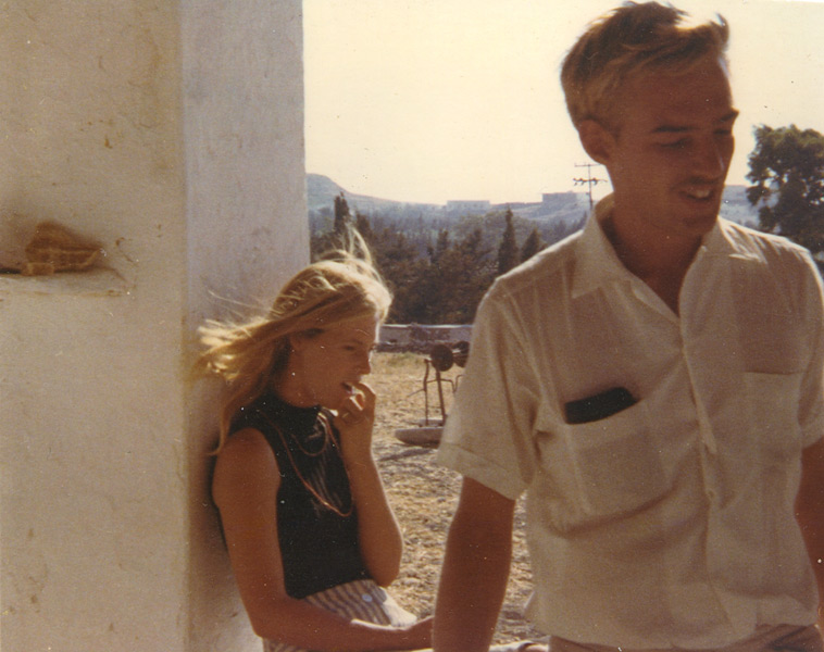 Brett Taylor, painter, founder and first director of the Aegean School of Fine Art with first wife, photographer Nina Landau.