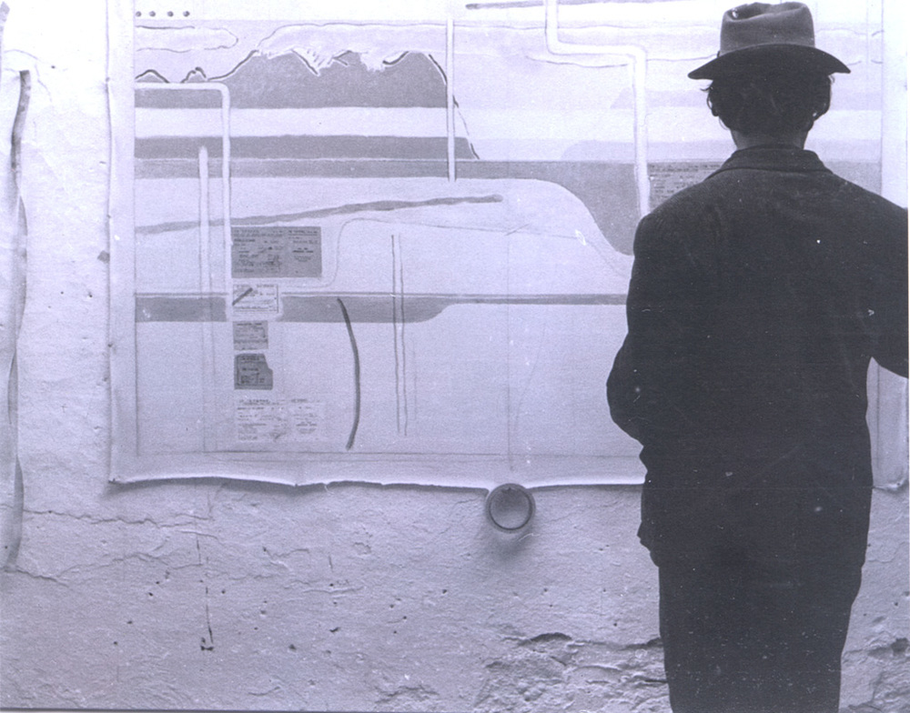 Brett Taylor at work in his studio.  Brett was the founding director and passed away in 1983.