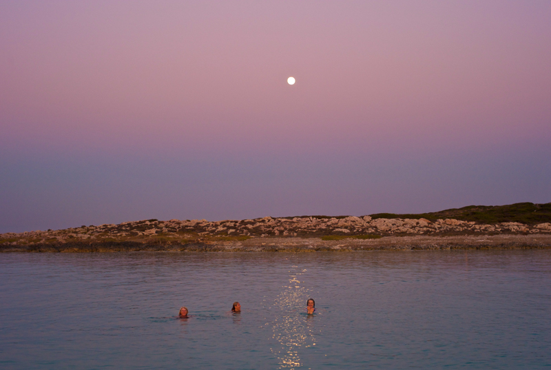 Summer Full Moon Evening Swim