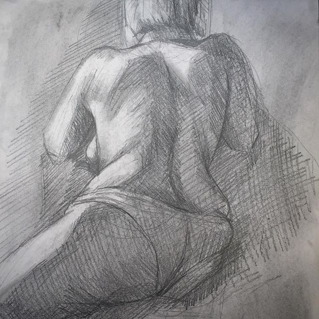Figure drawing by Charly Malpass @inventiveroots  Our exhibition is opening this evening at 7 pm. #aegeancenter #paros #exhibition #art #artschool #studyart #painting #drawing #figuredrawing #greece #figuremodel #pencildrawing #lightandshadow #studyabroad