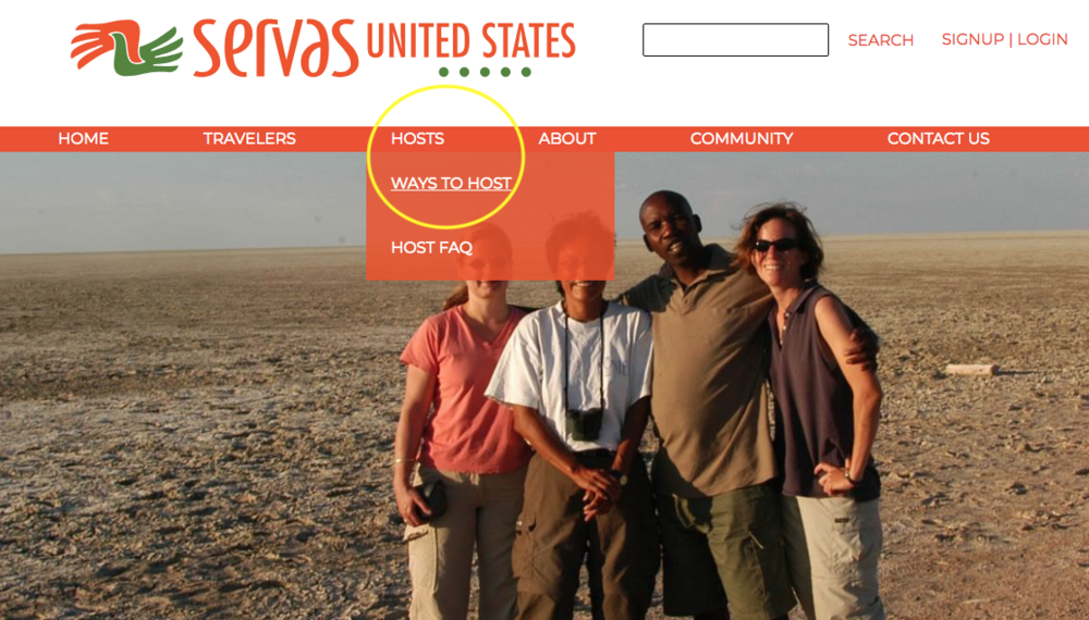 """Most users clicked on the dropdown selection for Hosts and Travelers to find the information they would need to become a traveler/host, instead of clicking on the top-level """"Hosts"""" and """"Travelers"""" themselves (see the picture on the right)."""
