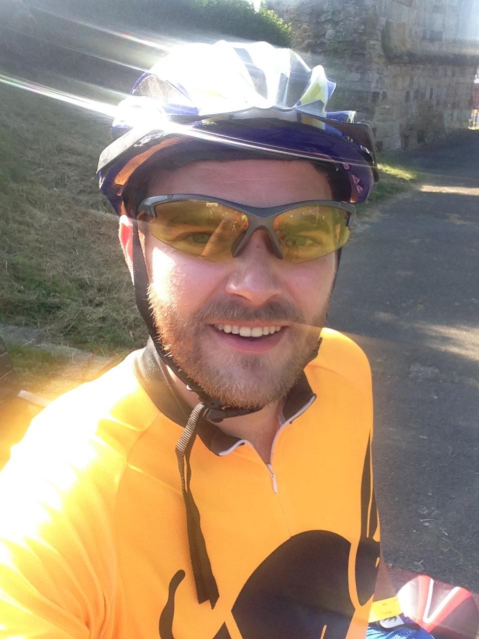 Carl Ellerington - preparing to cycle every mile of John O'Groats to London