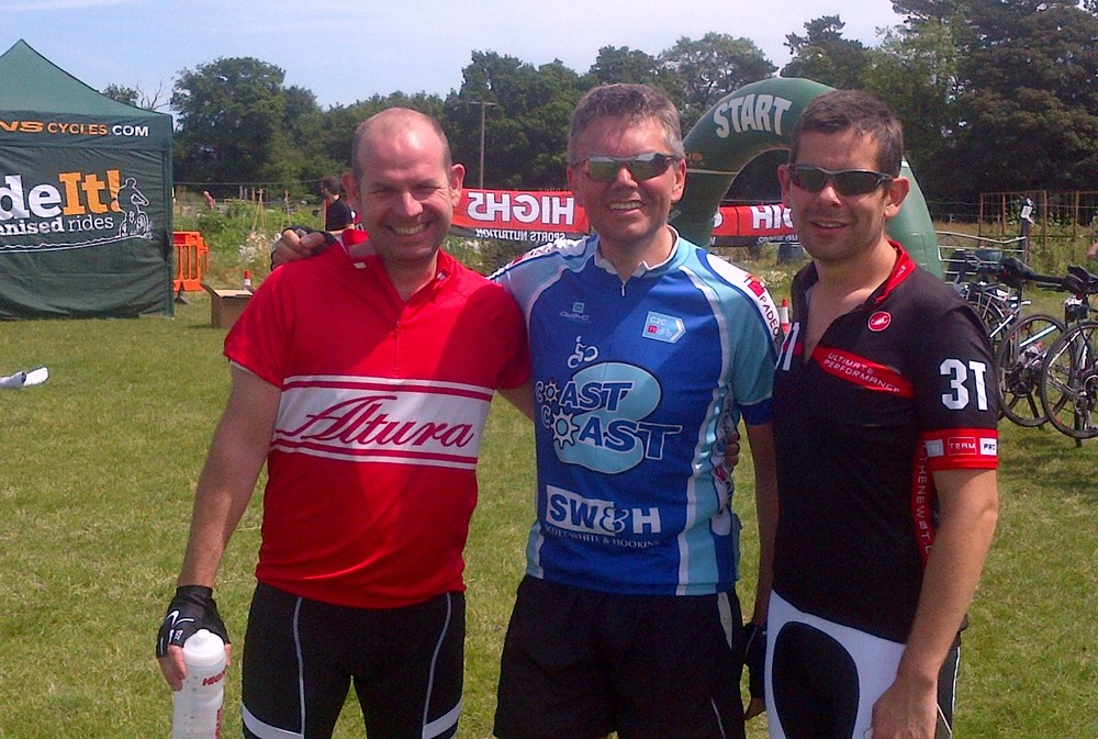 Neil, John and Dave looking fit after the Essex Ride It.