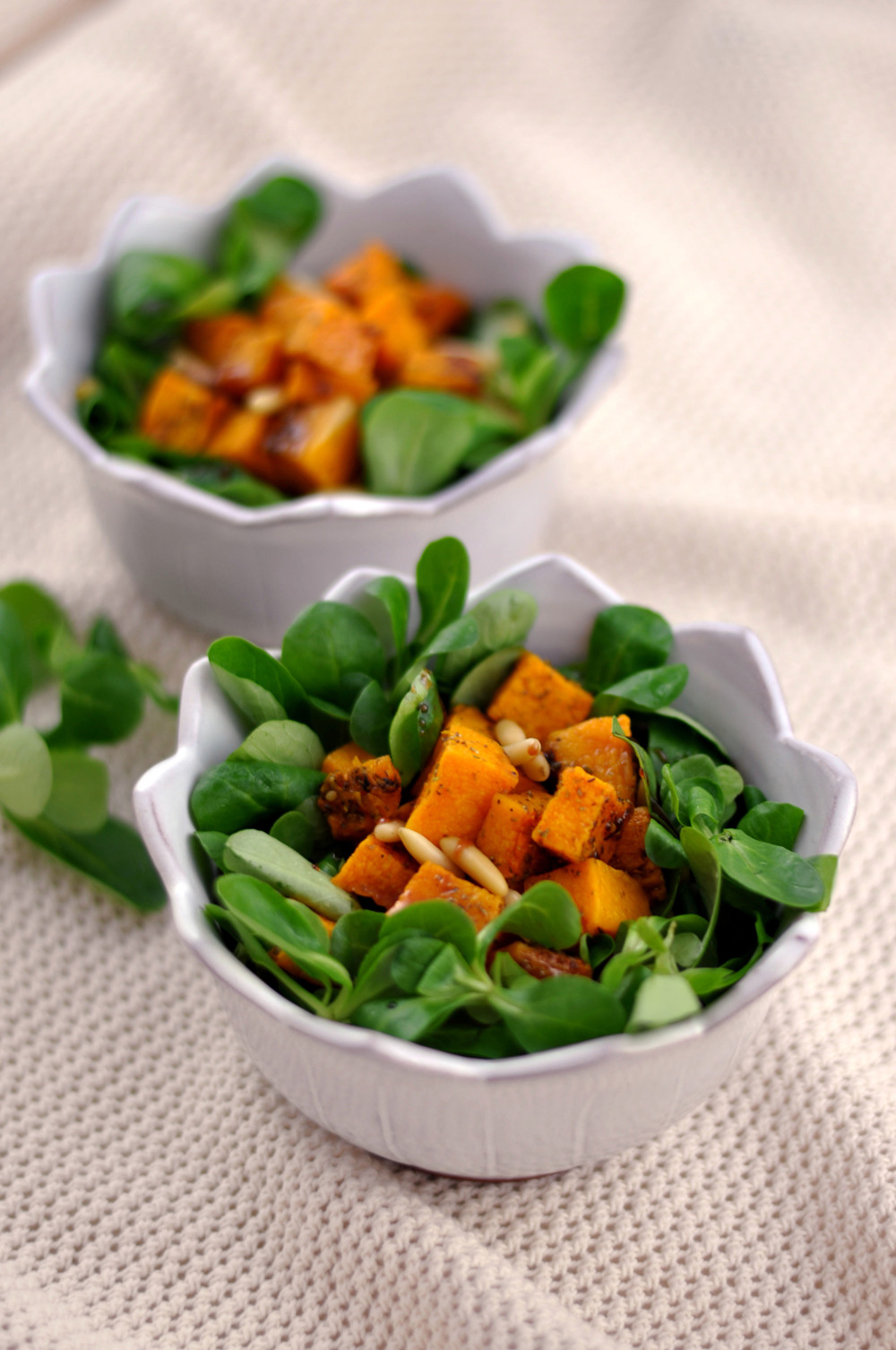 Za'atar Roasted Butternut Squash Salad with Pomegranate Molasses