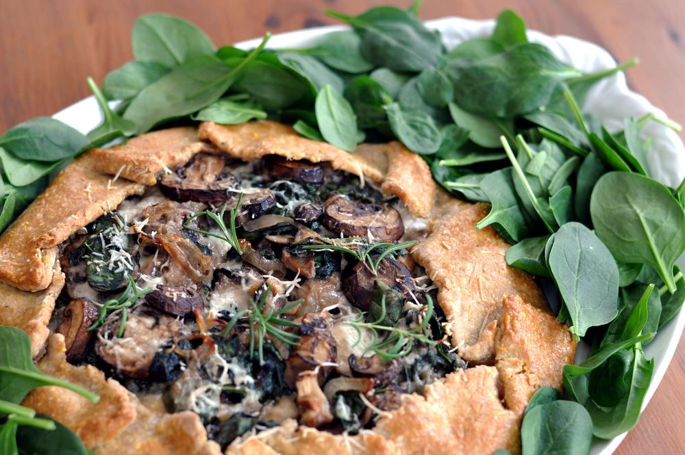 Spinach, Mushroom, & Mozzarella Galette | Shiny Happy Bright