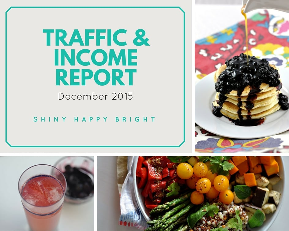 Traffic & Income Report for Shiny Happy Bright - December 2015