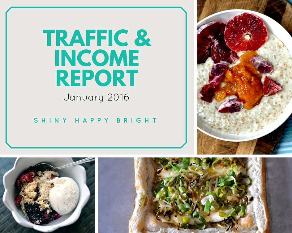 January 2016 Traffic & Income Report for Shiny Happy Bright