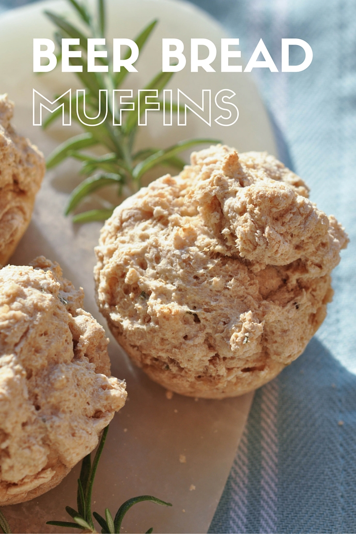 Rosemary Beer Bread Muffins - an easy, vegan muffin recipe. This 5-ingredient recipe takes less than 30 minutes to make!