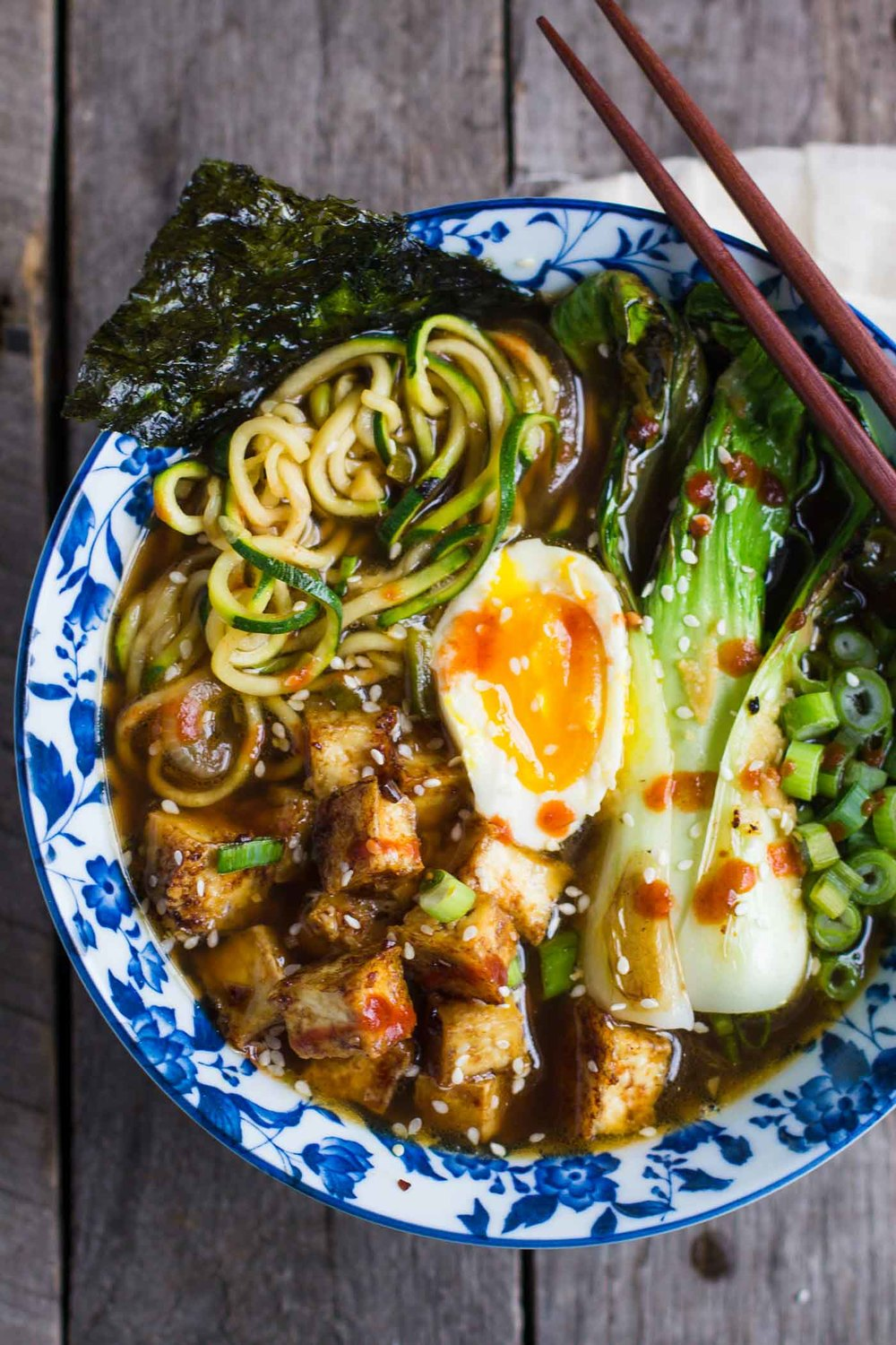 Zucchini Noodle Soup from B. Britnell - easy, 30 minute vegetarian recipes.