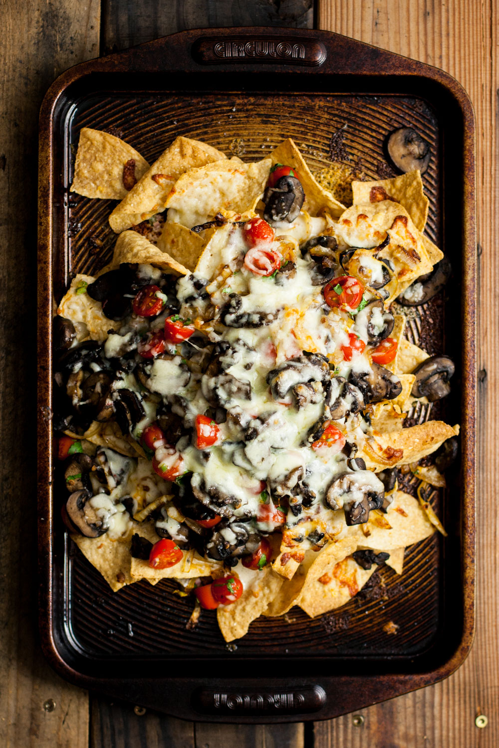 Chipotle Mushroom Nachos from My California Roots - easy, 30 minute vegetarian recipes.