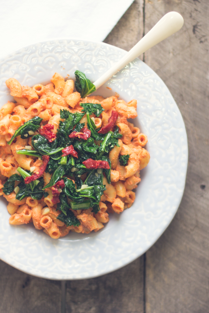 Vegan Smoked Tomato Pasta from B. Britnell - easy, 30 minute vegetarian recipes.