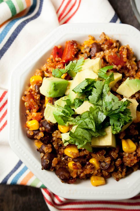 One Pan Southwestern Quinoa from The Merchant Baker - quick, 30 minute vegetarian recipes.