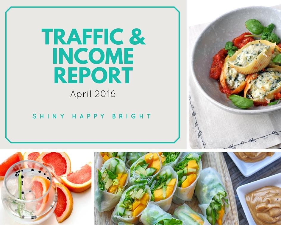 April 2016 Traffic & Income Report for Shiny Happy Bright