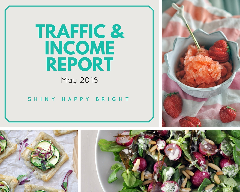 May 2016 Traffic & Income Report for Shiny Happy Bright. Blogging Income Report.
