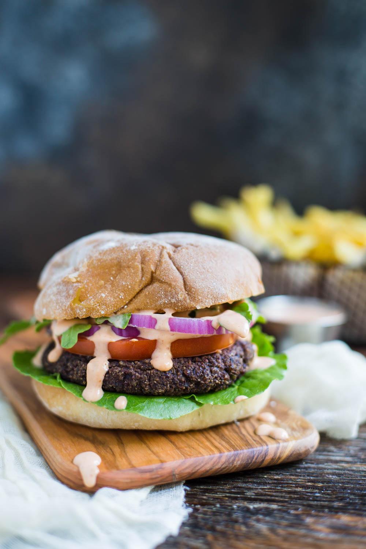Black Bean & Quinoa Burgers from B. Britnell