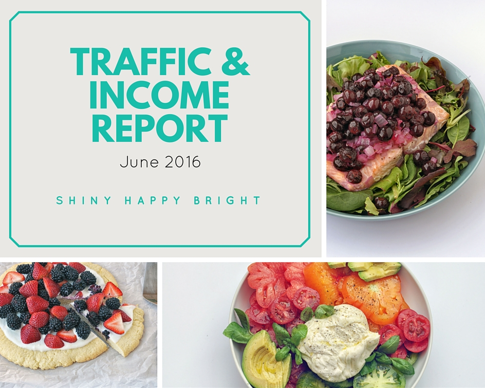 June 2016 Traffic & Income Report from Shiny Happy Bright