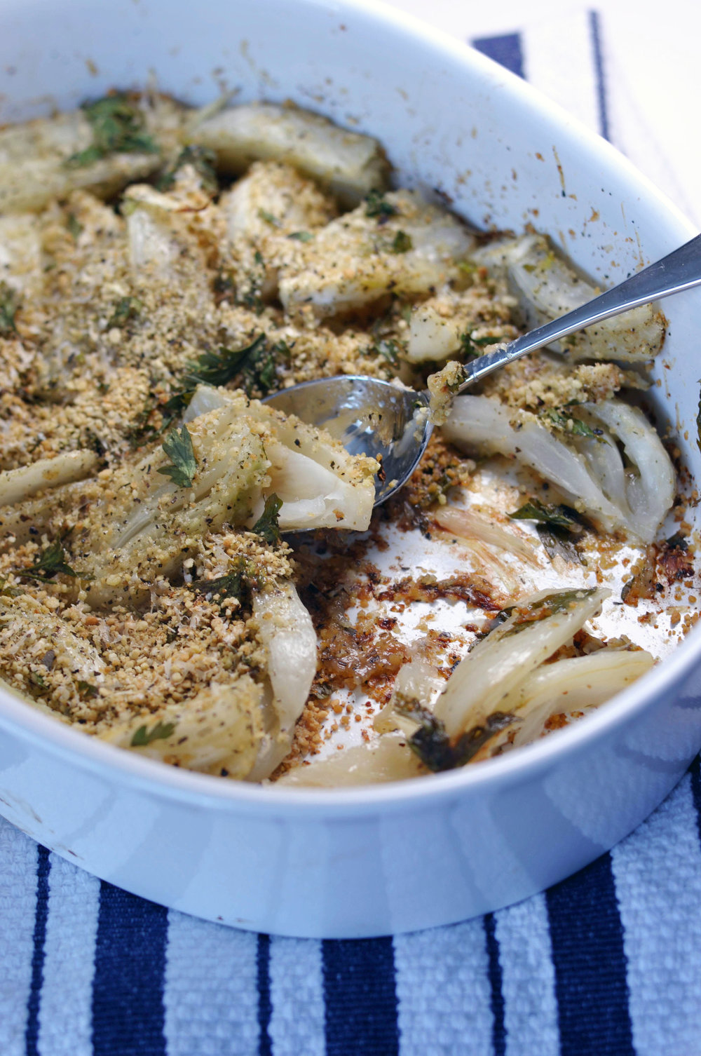 Fennel Gratin - an easy, vegetarian side dish from Shiny Happy Bright
