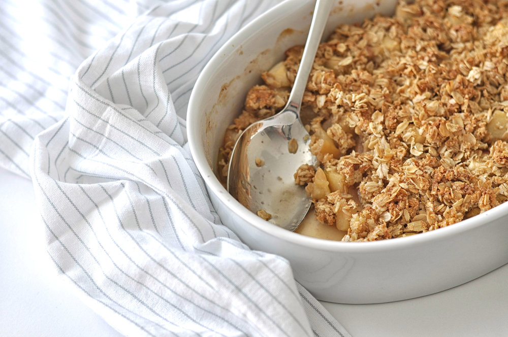 Caramelized Apple Crisp from Shiny Happy Bright