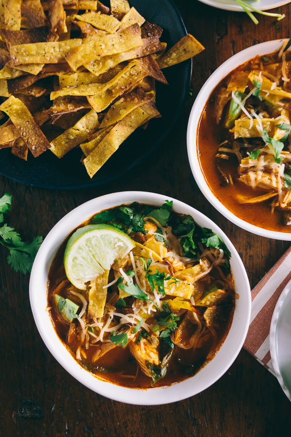 Chicken & Chard Tortilla Soup from Nutmeg Nanny | A healthy winter recipe roundup from Shiny Happy Bright
