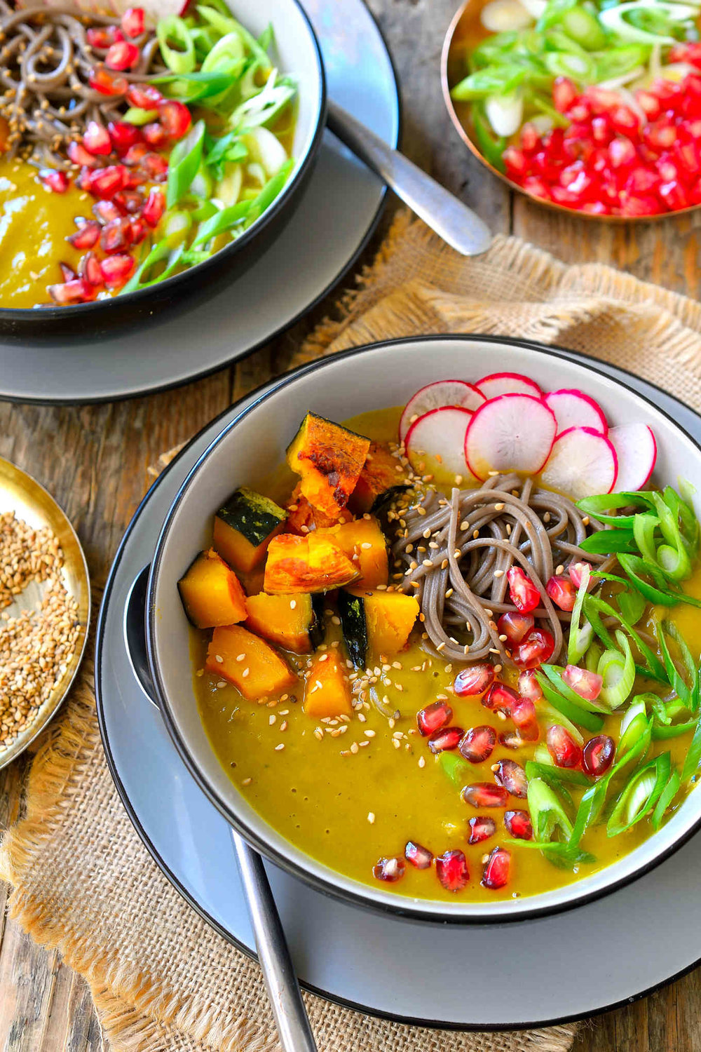 Kabocha Squash Soup with Soba from Cilantro & Citronella | A roundup from Shiny Happy Bright